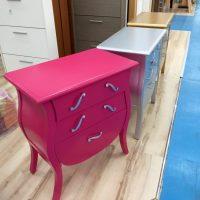 Comò in legno massicio colore rosa PianetaLegno Avezzano