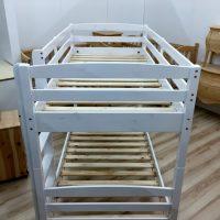 Letto a castello in legno massello verniciato bianco Pianetalegno Avezzano