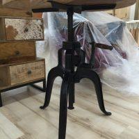 Tavolino legno massello struttura metallo Avezzano